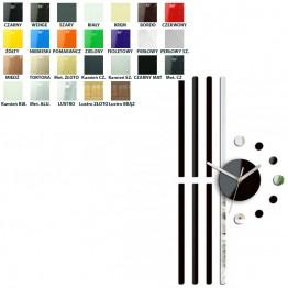 Zegar ścienny Geometria LINIE  - Różne kolory