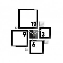 Zegar ścienny KWADRATY 3 - Czarny
