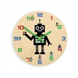 Zegar ścienny dziecięcy ROBOT