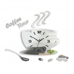 Zegar ścienny COFFEE TIME 3D - Lustro