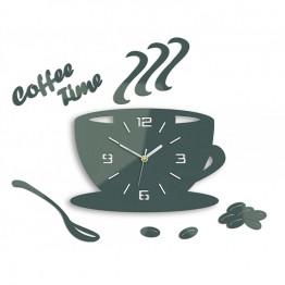 Zegar ścienny COFFEE TIME 3D - Szary