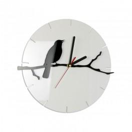 Zegar ścienny PTAK - Biały/czarny
