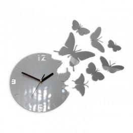 Zegar ścienny MOTYLE Deluxe - Metalic ALUMINIUM