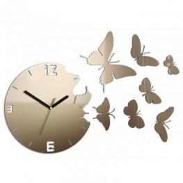 Zegar ścienny MOTYLE Deluxe - Metalic TORTORA