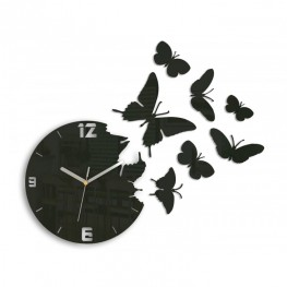 Zegar ścienny MOTYLE - Wenge