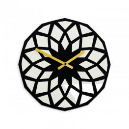 Zegar ścienny HARMONIA - Czarny/biały