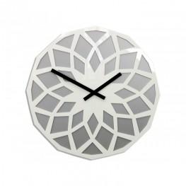 Zegar ścienny HARMONIA - Kamień/biały