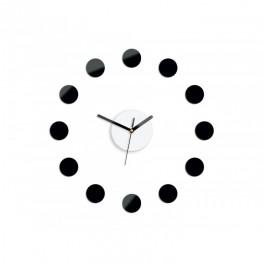 Zegar ścienny DOTS - Czarny i biały