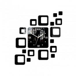 Zegar ścienny KWADRATY 2 - Czarny