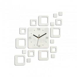 Zegar ścienny KWADRATY 2 - Biały