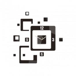 Zegar ścienny KWADRATY - Wenge