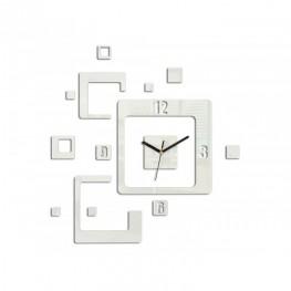 Zegar ścienny KWADRATY - Biały