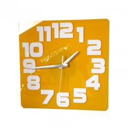 Zegar ścienny COMIC - Żółty / biały