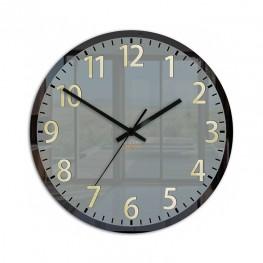 Zegar ścienny FRANK szary / złoty