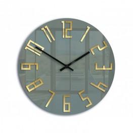Zegar ścienny ANDY szary / złoty