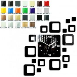 Zegar ścienny KWADRATY 2 - Różne kolory