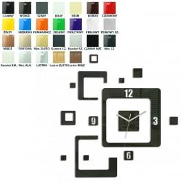 Zegar ścienny KWADRATY - Różne kolory
