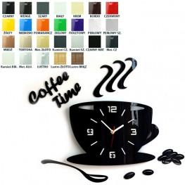 Zegar ścienny COFFEE TIME 3D - Różne kolory