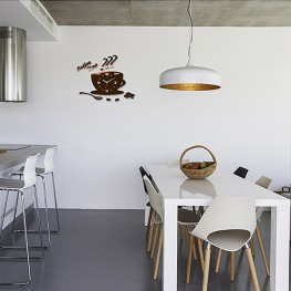 Zegar ścienny COFFEE TIME 3D - Miedziany