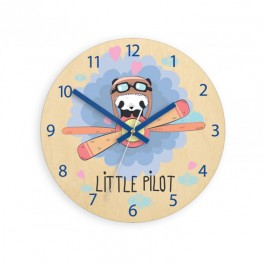 Zegar ścienny dziecięcy MAŁY PILOT PANDA