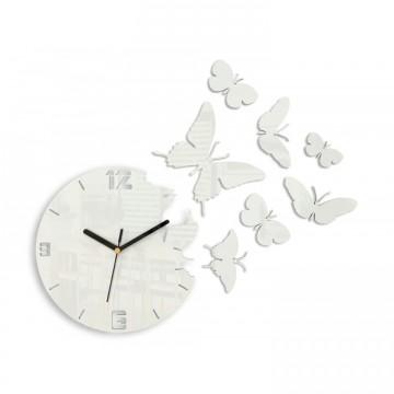Zegar ścienny MOTYLE - Biały