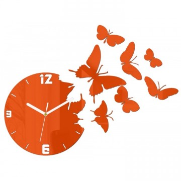 Zegar ścienny MOTYLE - Pomarańczowy