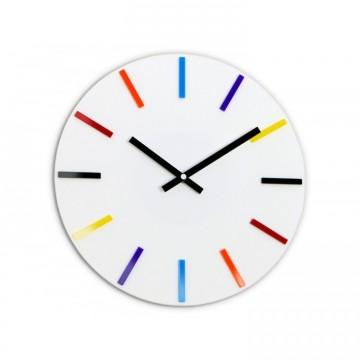 Zegar ścienny KOLOROWY - Biały