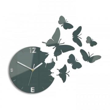 Zegar ścienny MOTYLE - Szary