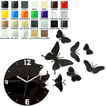 Zegar ścienny MOTYLE - Różne kolory